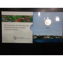 Blister Moneda Bimetalica 2 Pesos Islas Malvinas