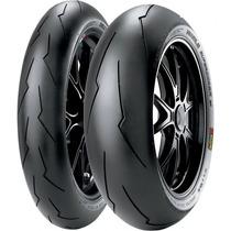 Jogo Pneu Moto 120/70r17+200/55zr17 Pirelli Super Corsa