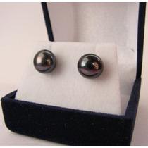 Aros Perlas Redondas Con Plata 925 Calidad Aa+