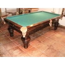 Mesa Antigua De Snooker Pool Billar