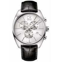 Reloj Calvin Klein Exchange Cronógrafo Piel Negra K2f27120
