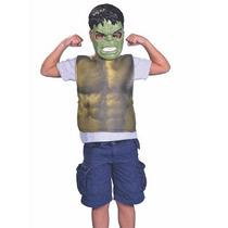 Disfraz Mascara Y Pechera Increible Hulk Avengers New Toys