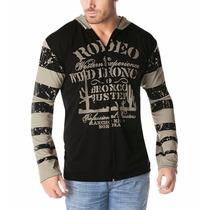 Jaqueta Masculina Blusa De Frio Casaco Capuz Ziper Estampada
