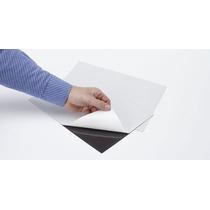 Pacote 100 Folha Manta Magnética Adesivada A4 Imã 0,3mm