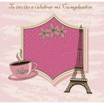 Kit Imprimible Invitaciones Cumpleaños: Paris, Torre Eiffel