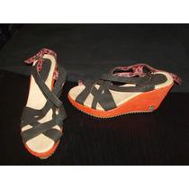 Sandalias Con Plataforma Combinadas Numero 37