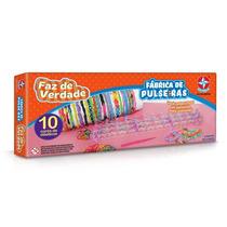 Brinquedo Fábrica De Pulseiras Faz De Verdade Estrela