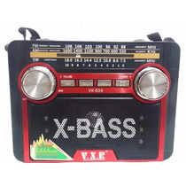 Mini Radio Mp3 Fm Am Usb Lanterna Cartão Sd Aux Phone Vx-034