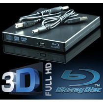 Gravador Blu-ray Externo Usb 3.0 3d Usb Cd Dvd Leitor Bluray