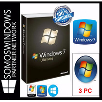 Windows 7 Ultimate Retail 32/64bits Licencia Original 3 Pc