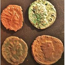 Lote 4 Moedas Antigas Antoninianus Império Romano Abaixou