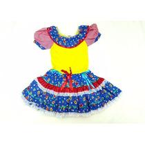 Vestido Festa Junina Caipira Quadrilha Infantil Tam 6