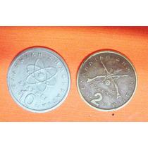 Grecia 2 Monedas 2 Apaxmai1980 Y 10 Apaxmai 1984
