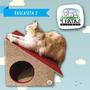 Nueva Rascasita ! Cucha Rascador Para Gatos- 4 Patas Diseños