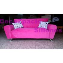 Sofa Modelo Simpson 2 Cp En Pana O Chenille Liso Decozpacio