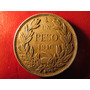 Moneda Chilena Plata 900 Republica De Chile Un 1 Peso 1910