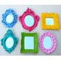 Kit 6 Espelhos Ou Molduras Coloridas Em Resina Pop Decorei