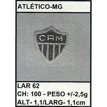 Pingente Medalha Ouro Ou Prata Atlético - Mg 2,5gr Christia
