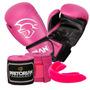 Kit Boxe Muay Thai First Pretorian Bucal Bandagem Luva 10oz