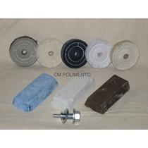 Kit 3 Polimento Microretifica-inox,aluminio,latão,aço