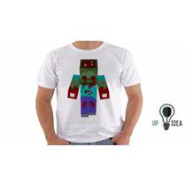 Camiseta De Zumbi - Camiseta Nerds - Camiseta Minecraft