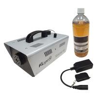 Máquina De Fumaça 1200w 220v Cont. Com E Sem Fio + Líquido