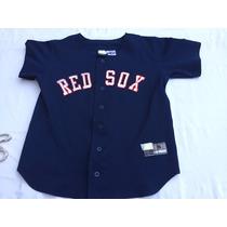 Casaca Mlb (1ra Marca) Usa,boston Red Sox #24 Talle S Joven