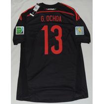Jersey Portero Selección Mexico Ochoa 13 Mundial 2014 Adidas