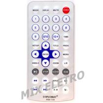 Controle Remoto Para Dvd Portátil Com Tela Diplomat Pdv-720