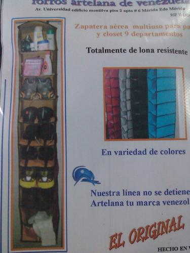Zapatera aerea multiuso para pared y closet 9 departamentos bs en mercado libre for Zapateras para closet