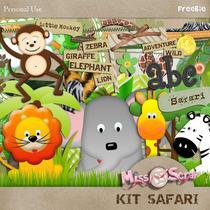 Kit Digital Safari Animais Faça Convites E Scrapbook