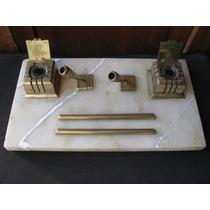 Tintero Antiguo Art-deco Base De Marmol Restaurado