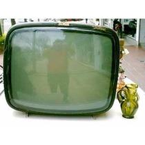 Antiguo Televisor De Madera Dumont Byn B/est Retro Vintage+
