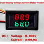 Voltímetro Y Amperímetro De Panel De 100v/100a Dc