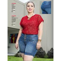 Short De Mezclilla Ala Moda Sexy Tallas Extras Fashion