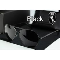 Óculos De Sol Polarizado Police 100%uvauvb Masculino Aviador