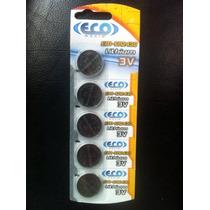 Bateria Eco Mania Em-cr2430 Lithium 3v Cartela C/ 5pcs