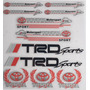 Kit Calcomanias Sticker Toyota Trd Performance Set 2