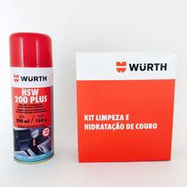 Kit Limpeza E Hidratação De Couro + Higienizador De Ar Wurth