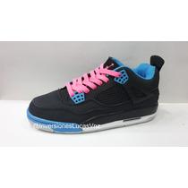 Zapatos Jordan Retro 4 Carritos - Damas Originales