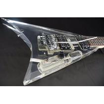 Guitarra Art Pro Flying V Em Acrílico Mod. Randy Roads