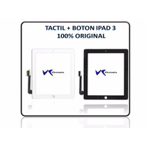 Mica Tactil Ipad 3 + Boton Home + Adhesivo 100% Original
