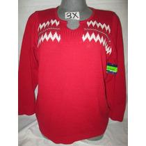 Sweater Rojo Casual/vestir Talla 3x Extragrandes