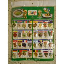 Colección 34 Pins Fútbol Cuadros Mundial Brasil 2014 Todos.