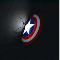 Capitan America Figuras Marvel Lamparas De Pared 3d