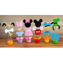 Tubos Golosineros Mickey Minnie Disney Souvenir Cumpleaños