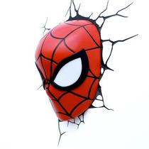 Lamparas De Pared 3d Modelo Spiderman Marvel