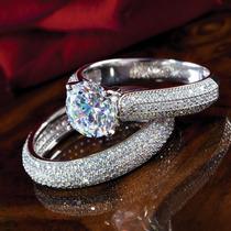 Alianza Matrimonial De Plata Y Diamantes Stauer
