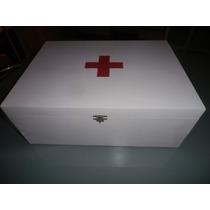 Caja Botiquín Cruz Roja Xl Pintada Decorada Artesanalmente
