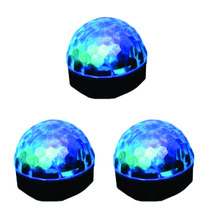 3 Lamparas Con Bocina Luz Led Giratoria Mp3 Fiestas Eventos